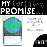 Earth Day Writing and Handprint Earth Craft Free