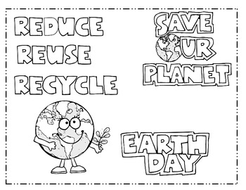 Earth Day Writing for 1st, 2nd, or 3rd