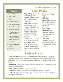 Earth Day Yoga Lesson Plan