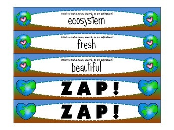 Earth Day ZAP! Noun, Verb, or Adjective? FREEBIE