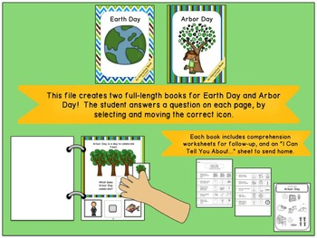 Earth Day and Arbor Day:  Interactive Book Bundle