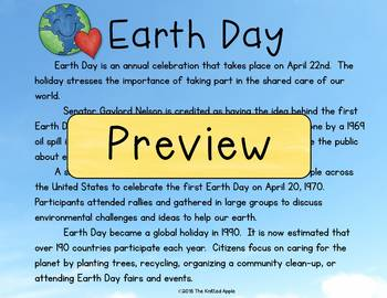 Earth Day and Arbor Day Read and Respond (Digital or Print)