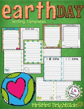 Earth Day and Arbor Day Writing Template