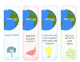 Earth Day bookmarkers
