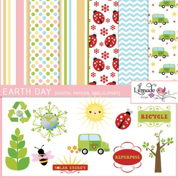 Earth Day clip arts and digital papers
