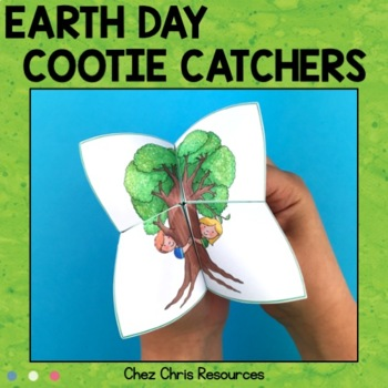 Earth Day cootie catchers - Fortune tellers