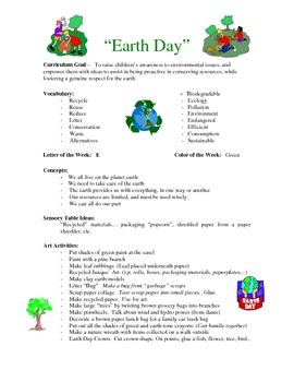 Earth Day curriculum