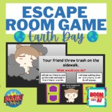 Earth Day environment BOOM CARDS Speech Therapy escape room inferencing NO PRINT