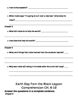 Earth Day from the Black Lagoon Test