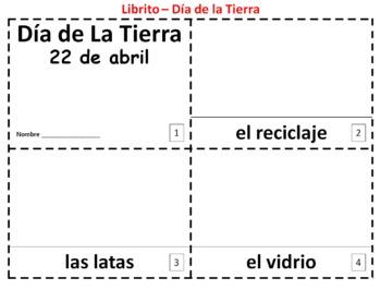 Spanish Earth Day 2 Booklets - Dia de la Tierra