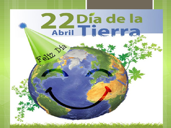 Earth Day in Spanish power point with music video