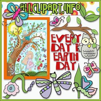 Earth Day is Everyday Clip Art - Cheryl Seslar Clip Art