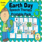 Earth Day Speech Therapy Printable Pack