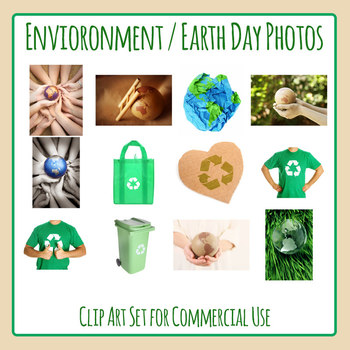 Earth Day or Environmental Themed Photos Clip Art for Commercial Use