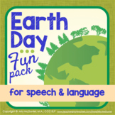 Speech and Language Therapy Activities & Homework - Earth Day Fun Pack!