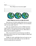 1st-3rd grade Earth Day activities {What can we do to help the Earth?}