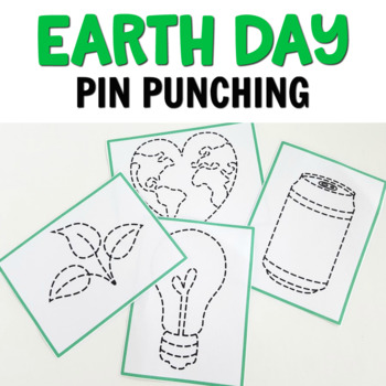 Earth Day pin punching printables (Montessori printables)