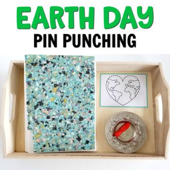 Earth Day pin punching printables (Montessori printables)