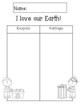 Earth Day (recycle/garbage sort)