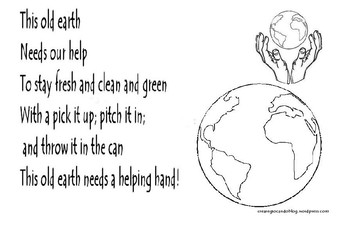 Earth Day  song, create the image above