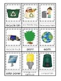 Earth Day themed 3 Part Matching Preschool Literacy Educat