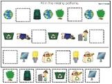 Earth Day themed Fill In the Missing Pattern Preschool Edu