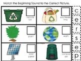 Earth Day themed Match the Beginning Sound Preschool Phoni