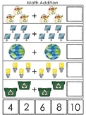 Earth Day themed Math Addition Preschool Math and Coutning