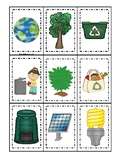 Earth Day themed Memory Match Preschool Educational Card Game.