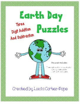 Earth Day Three Digit Addition Regrouping