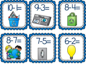 Earth Day write the room { ELA & Math }