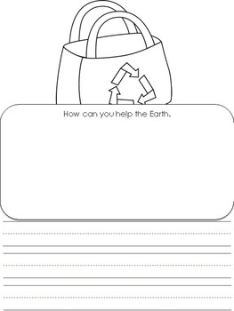 Earth Day writing Prompt PreK-2