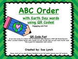 Earth Day~ABC Order for INDEPENDENT word work using QR CODES Great for centers
