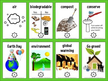 Earth Day Vocabulary Trading Cards