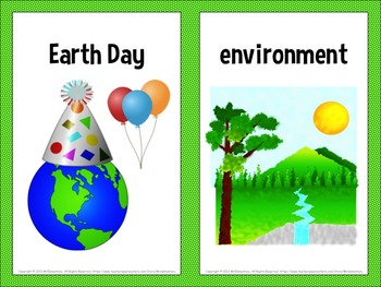 Earth Day Vocabulary Word Wall