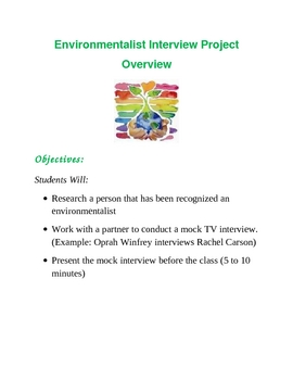 Earth Day/Environmentalist Talk Show Interview Project