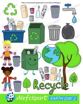 Earth Day.Love Our Planet Clip Art. Digital Clipart. Creative Clips.