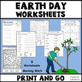 Earth Day Worksheets - No Prep  Activity Packet Just Print and Go