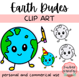 Earth Dudes Clipart - Personal and Commercial Use Clip Art