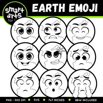 Earth Emoji Clip Art