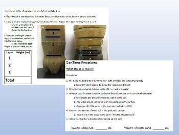 Earth/Environmental Lab Activity: Soil Analysis
