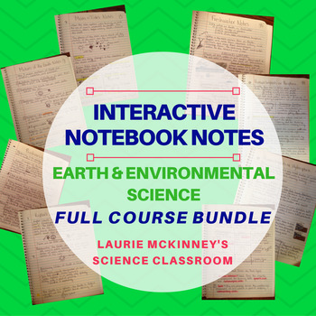 Earth & Environmental Science Interactive Notebook - Bundled Course Notes