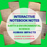Earth & Environmental Science Interactive Notebook - Human Impact Notes