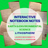 Earth & Environmental Science Interactive Notebook - Lithosphere Notes