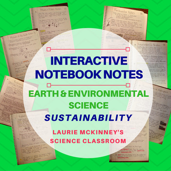 Earth & Environmental Science Interactive Notebook - Sustainability Notes