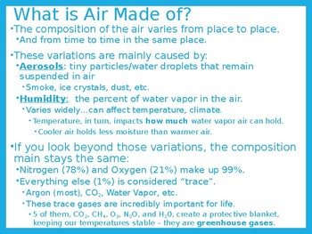 Earth/Environmental Science Lecture Notes: The Atmosphere