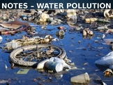 Earth/Environmental Science Lecture Notes: Water Pollution