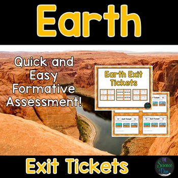 Earth Exit Tickets (Exit Slips)