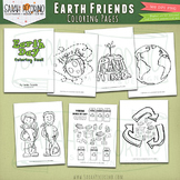 Earth Day Coloring Pages - Earth Friends - Recycling *SALE*