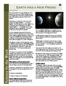 Earth Has a New Friend!:  Leveled Informational Text